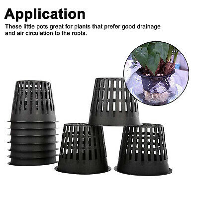 $ CDN11.32 • Buy 12 Packs 3  Garden Slotted Mesh Net Cups With Plant Labels For Hydroponics
