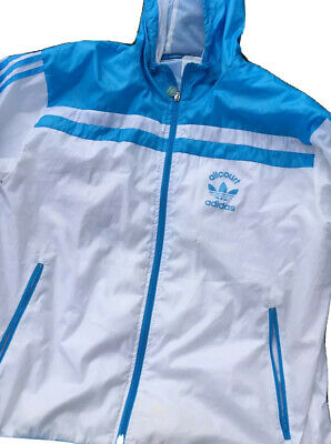 £47 • Buy Adidas Original CHILE Style Wet Look Glanz Pride Shiny Jacket M Nylon Cal Surf