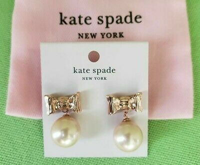 $ CDN46.13 • Buy Kate Spade All Wrapped Up In Pearls Drop Earrings:nwt Blush/rose Gold