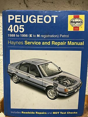 Peugeot 405 Haynes Service And Repair Manual 1988 E To 1996 N  • 4.50£