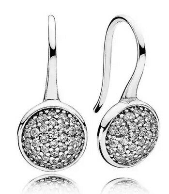 AU26 • Buy S925 Sterling Silver Dazzling Droplet Earrings By Pandora's Queen
