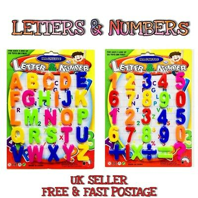 £3.99 • Buy Kids Learning Teaching MAGNETIC Toy Letters & Numbers Fridge Magnets Alphabet UK