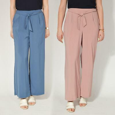 £11.99 • Buy EVANS Plus Size Womens Wide Leg Pull On Trousers Elasticated Waist RRP £32