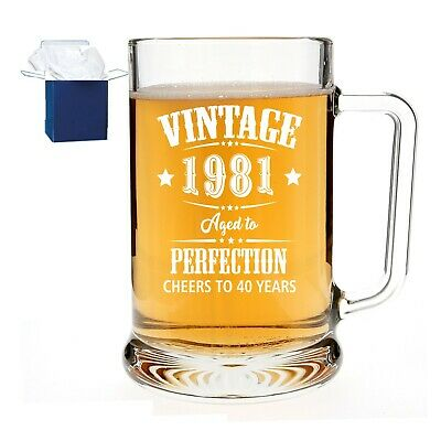 £11.95 • Buy Personalised Engraved Pint Beer Glass Tankard Birthday Aged To Perfection Gift