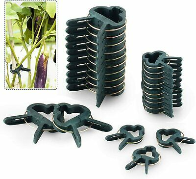 £3.99 • Buy 20 Reusable Plant Clips Patio Support Fixing Cane Rod Clips Spring Gardening Set