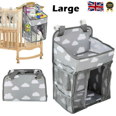 £18.50 • Buy Baby Hanging Diaper Caddy Nursery Organizer Large Capacity For Stroller Bed Crib