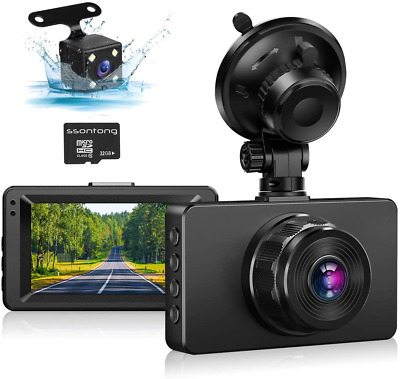 AU93.94 • Buy Dash Cam Front And Rear Camera, 1080P Full HD Dashboard Camera For Cars, 170° SD
