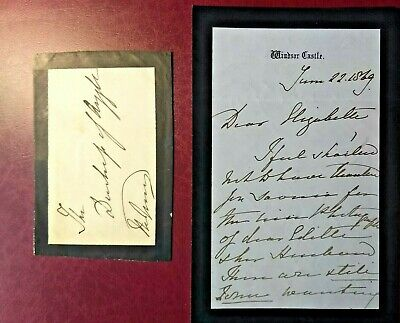 £649.99 • Buy 1869 Queen Victoria Handwritten, Signed 3 Page Letter To The Duchess Of Argyll