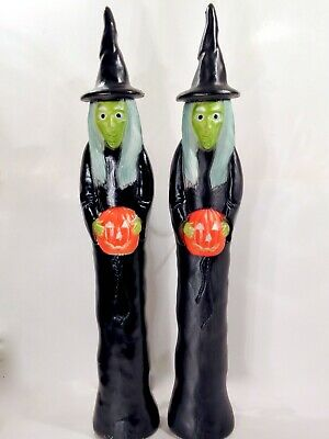 $ CDN499.92 • Buy Vintage 1990's Don Featherstone Union Blow Mold Halloween Witch Pair Nice Ones
