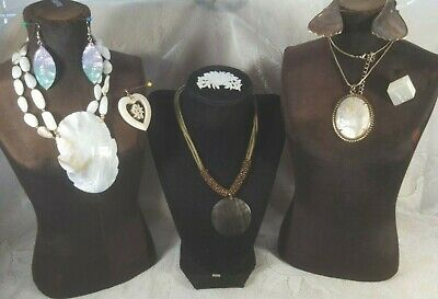 $ CDN19.46 • Buy Vintage Mother Of Pearl Jewelry Lot Pendant Necklace Pins Earrings Lia Sophia