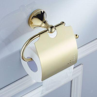 AU23.90 • Buy Toilet Paper Roll Holder Tissue Bathroom Dispenser Wall Mounted Golden Brass