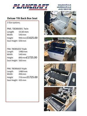 £1918.80 • Buy RIB Boat Sports Yacht RHIB Quality GRP Consoles And Seating Units Made To Order.