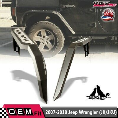AU262.16 • Buy Fit 2007-2018 Jeep Wrangler JK JKU Rear Fender Flares Heavy Duty Steel