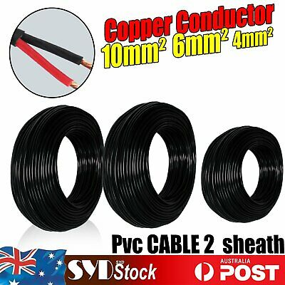 AU19.94 • Buy Electrical Wires Twin Core Cable 10mm 6mm 4mm Trailer Caravan Car Battery Wiring