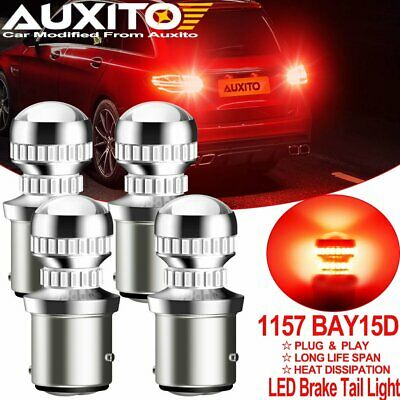 $27.99 • Buy AUXITO 4*1157 BAY15D 2357 Red LED Brake Stop Tail Light Parking Bulbs High Power