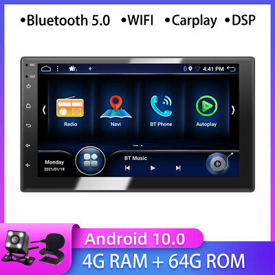 AU264.99 • Buy 7 Inch IPS Android 10 Double 2DIN Car Stereo GPS NAVI Head Unit 4G WiFi Carplay