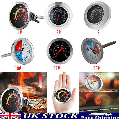 £6.09 • Buy Stainless Steel Oven Cooker Thermometer Temperature Gauge Quality Pizza BBQ Oven