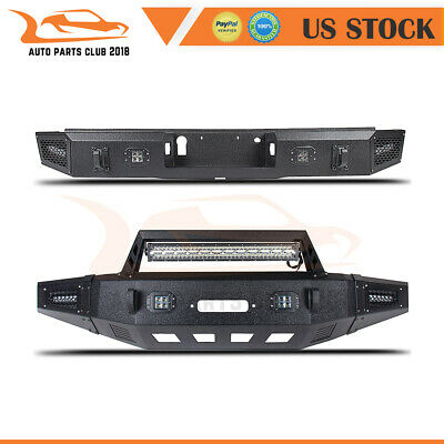 $1706.99 • Buy Offroad Powder Coated Front Rear Bumper Guard W/ Led Lights For 15-17 Ford F150