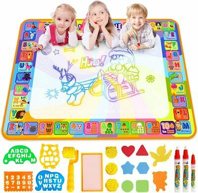 £19.99 • Buy Water Doodle Mat, Larger 100 X 70cm Multicolored No Mess Water Drawing Painting