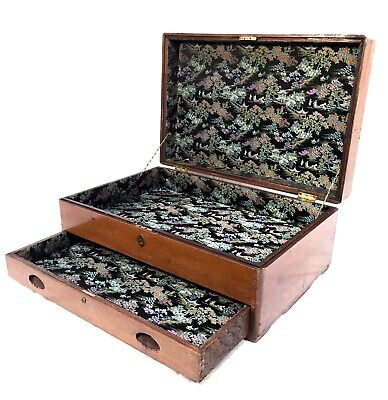 £169 • Buy Antique Large Wooden Collectors Or Sewing Chest / Box / Vintage Storage Cabinet