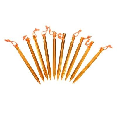 AU12.14 • Buy Pack Of 10 Tent Stakes Peg Aluminum Alloy Camping Tent Nail With Storage Bag