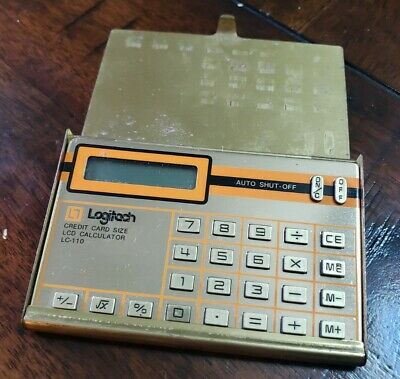 £10.85 • Buy Logitech LC-110 Gold Credit Card Sized Calculator Vintage Inscribed Case
