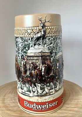 $ CDN16.29 • Buy Vintage 1987 C Series Budweiser Stein Clydesdale Anheuser Busch Holiday Grants