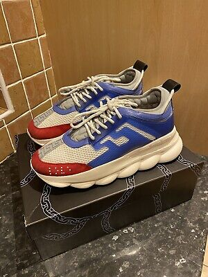 £319.99 • Buy 100% Genuine Versace Chain Reaction Trainers Size 44/10 | With Box