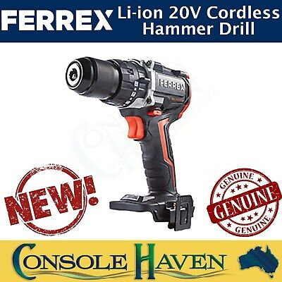 AU50 • Buy FERREX 20V Li-ion Cordless Hammer Drill With Or Without Xfinity Battery/Charger