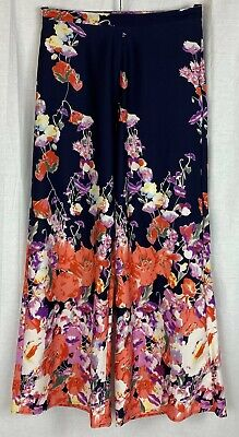 RIVER ISLAND Womens Multi Floral Palazzo Party Trousers Size 8 • 11.99£