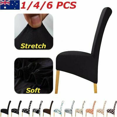 AU9.99 • Buy XL Dining Chair Covers Slipcover Spandex Super Stretch Wedding Cover Washable AU