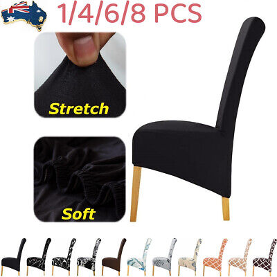 AU9.99 • Buy XL Dining Chair Seat Covers 1/4/6pcs Stretch Large Size Chair Slipcover Washable