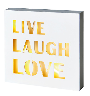 £8.95 • Buy Tranquil Home Inspirational Words Quote  LIVE, LAUGH, LOVE  LED Canvas BL161217