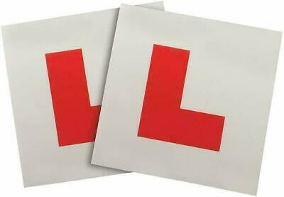 2 X SELF ADHISIVE L PLATES SECURE Quick Easy To Fix Learner Sign UK • 2.39£