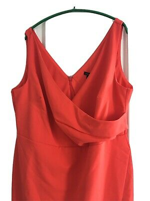 River Island Coral Bodycon Dress Size 22 - Brand New With Tags - Occasion • 4.95£