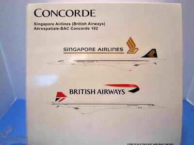 AU131.07 • Buy Jcwings 1:200 Scale   Singapore Airlines / British Airways Concorde   Jc2sia337