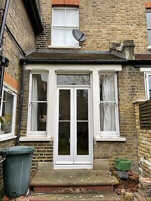 Used Victorian French Double Glazed Doors And Sash Windows. Antique/ Reclaimed • 1£