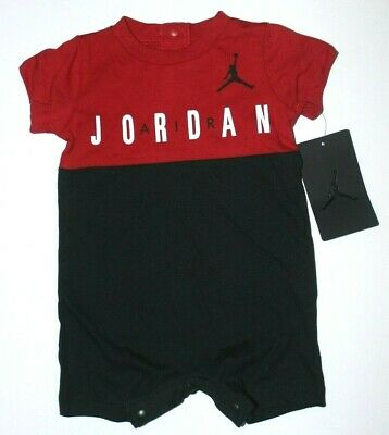 $11.95 • Buy Baby Boys NB 0-3M 3-6M Nike Air Jordan Romper One Piece Outfit New W Tags