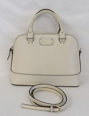 $ CDN57.65 • Buy Kate Spade New York Ivory Leather Convertible Domed Satchel Purse