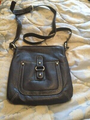 AU4.51 • Buy John Lewis Leather Handbag Navy Crossbody Bag