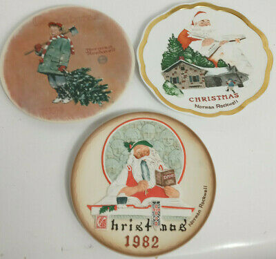 $ CDN72.28 • Buy Lot Of 3 Norman Rockwell Collectible Christmas Plates -1974 - 1982 - 1983