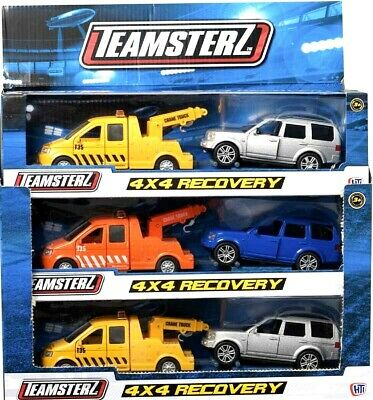 £10.50 • Buy Teamsterz 4X4 Recovery Tow Truck And Car Scale Model Diecast Metal Toy Gift NEW