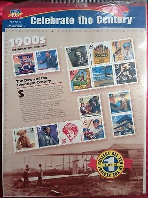 """AU8 • Buy USA Stamps 1998: """"Celebrate The Century"""" 1900's: 1 Of 10: MUH Sheet"""