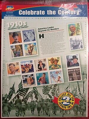 """AU8 • Buy USA Stamps 1998: """"Celebrate The Century"""" 1910's: 2 Of 10: MUH Sheet"""