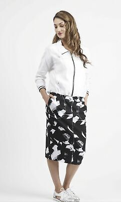 AU45 • Buy Macjays NZ Designer Skirt  14 RRP $169.95 Black/white Brand New With Tags