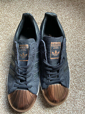 AU44.47 • Buy Adidas Superstar 80s Black Rose Gold Shell Toe Size 6