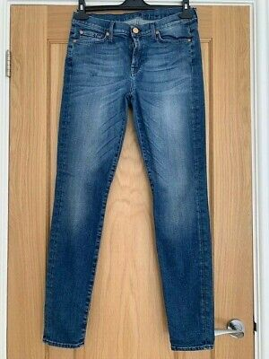AU30.37 • Buy 7 For All Mankind Blue Skinny Jeans - Size 31