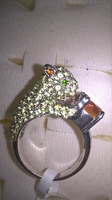 £152.40 • Buy Squirrel Ring - Stunning Madeira Citrine With Peridot & Chrome-Diopside