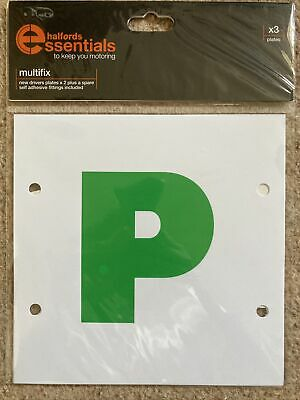 3x New Halfords Driver P Plate Stickers • 0.99£