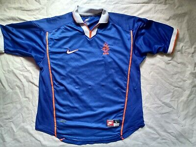 Shirt Netherlands 1998 1999 2000 Nike Size L Away Football Jersey Trikot • 32£